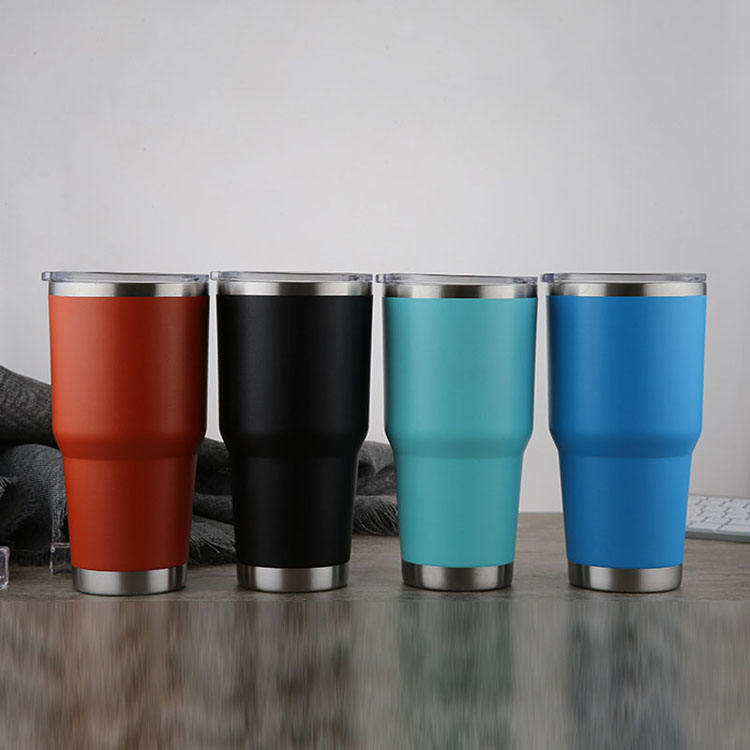 customer print Vacuum 30 oz Stainless Steel Tumbler Sport Water Bottle Wide Mouth Insulated Cup For Travel