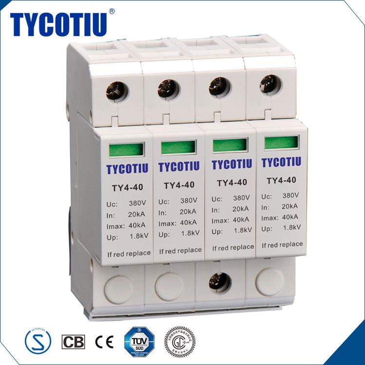 TYCOTIU Produtos Mais Populares China 4 P Ao Ar Livre Classe 2 Raios Dispositivo de Proteção Contra Surtos SPD Tipo 3