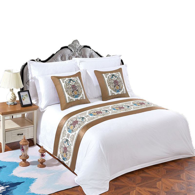 Luxury High Quality Soft 50Cotton 50 Polyester Double Size Hotel Comfort Bed Sheet Set of Hotel 4 pcs