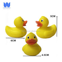Baby toy small yellow bath duck plastic vinyl duck