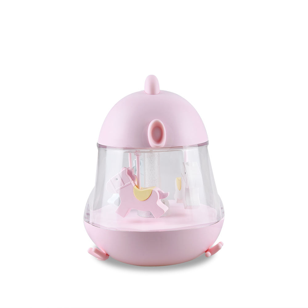 Kids Sound Machine Farbwechsel Led Musical Cartoon Bett lampe Rotierendes Nachtlicht