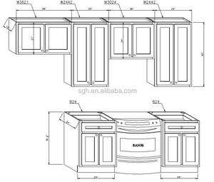 Modern Kitchen cabinet direct from china / Main to north American