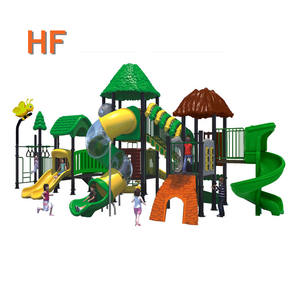 Children play game for playground plastic slide outdoor playground, kids playground tube slide HF-G069A