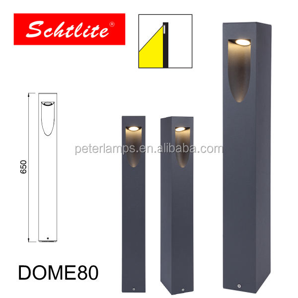 DOME garden outdoor one single side led bollard lighting