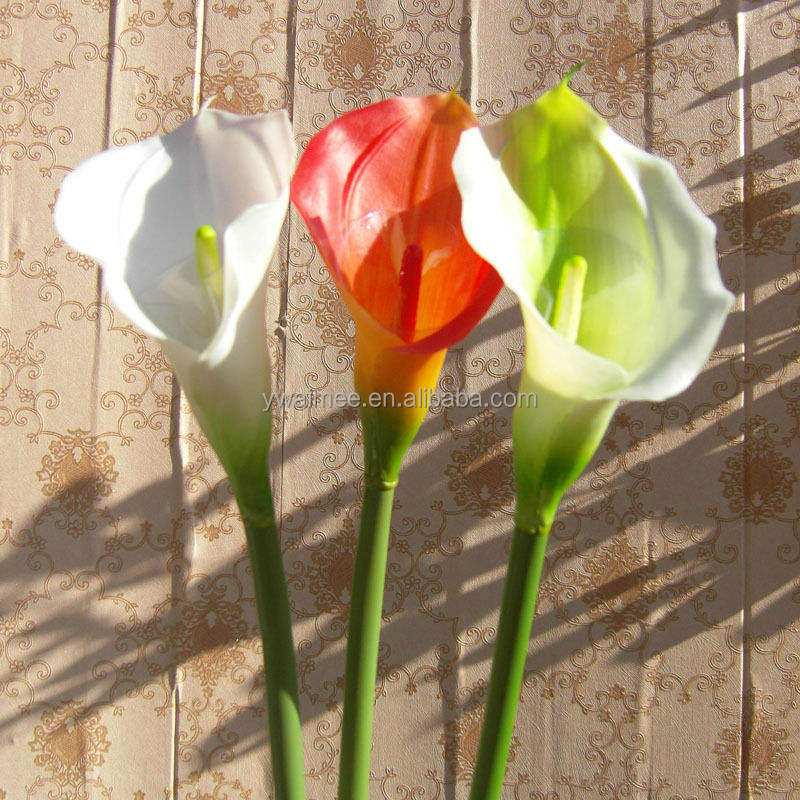Yiwu Aimee suministros al por mayor artificial alcatraces de calla lily flores artificiales (AM-YD018)