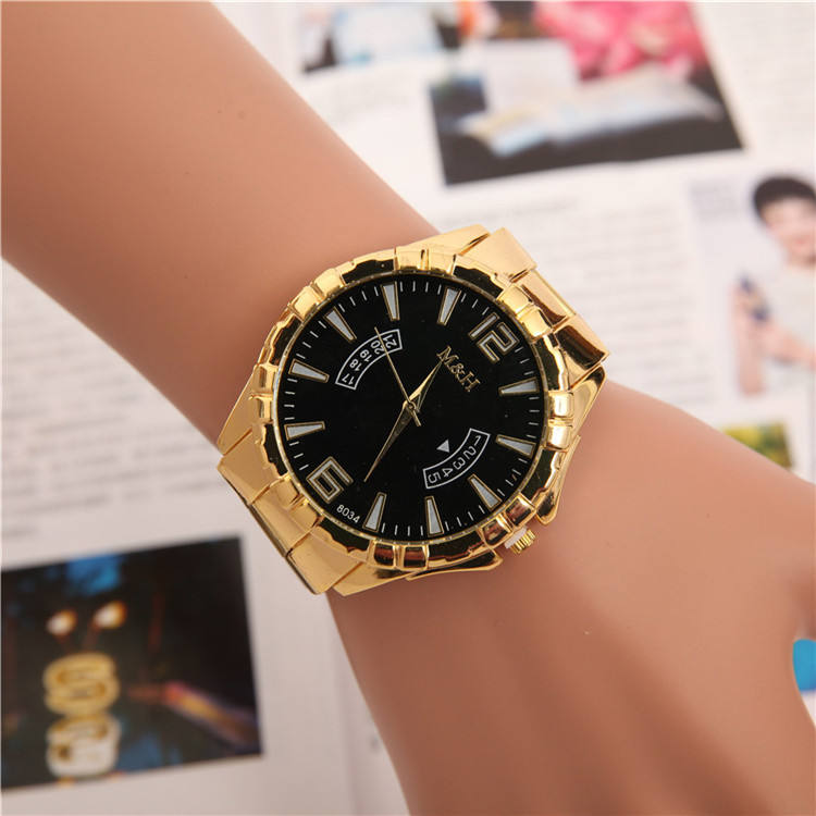 2018 OEM wholesale fashion Gold mens Watch Cheap price wrist man bracelet stainless steel bracelet watch