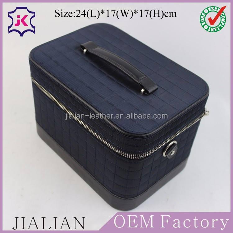 Main en cuir PU organisateur box pour les cosmétiques