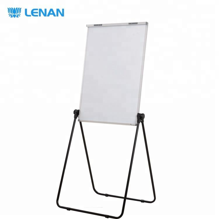 90*60cm Movable Double Side Foldable Magnetic White Board Easel Height Adjustable U Shape Flip Chart Board