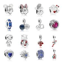 2018 High Quality Winter Charms Fit Original European 1:1 Charms DIY 925 Sterling Silver Jewelry Fit For Pandoras