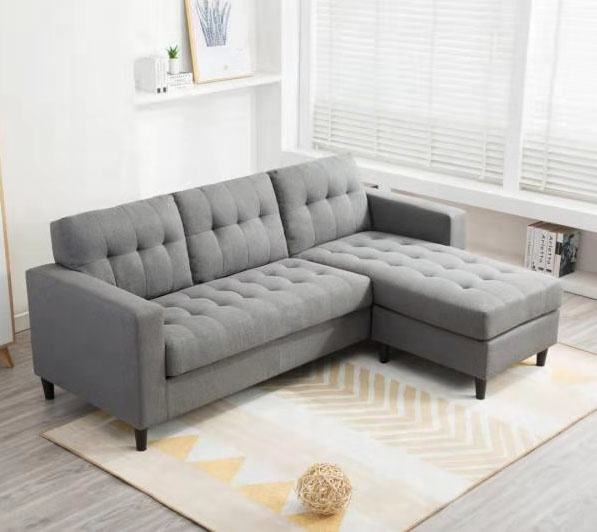 Frank furniture L shaped sectional sofa fabric American European style convert modern sectional corner sofa