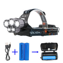 T6 LED 5000 Lm usb rechargeable Headlight Headlamp Head Lamp Light Flashlight 18650 led head lamp