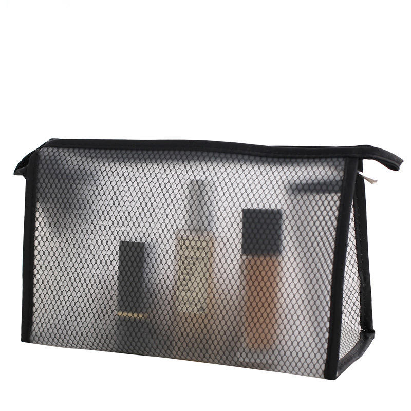 China Supplier EVA Mesh pouch customized Cosmetic Makeup Bag toiletries bag