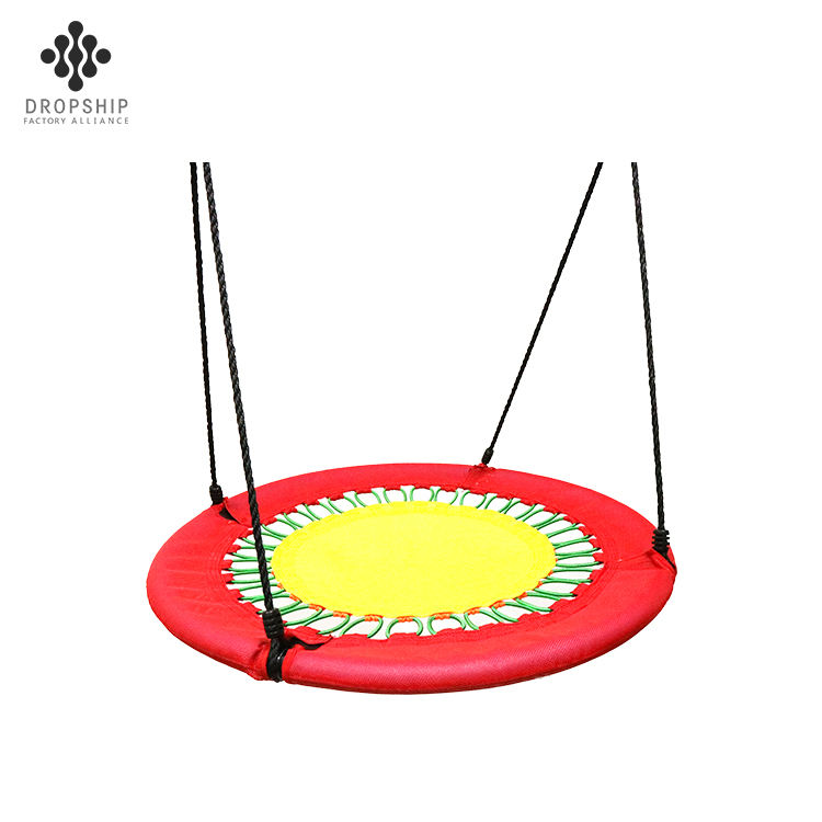 Dropship Custom Size outdoor saucer swing for baby patio swing with canopy