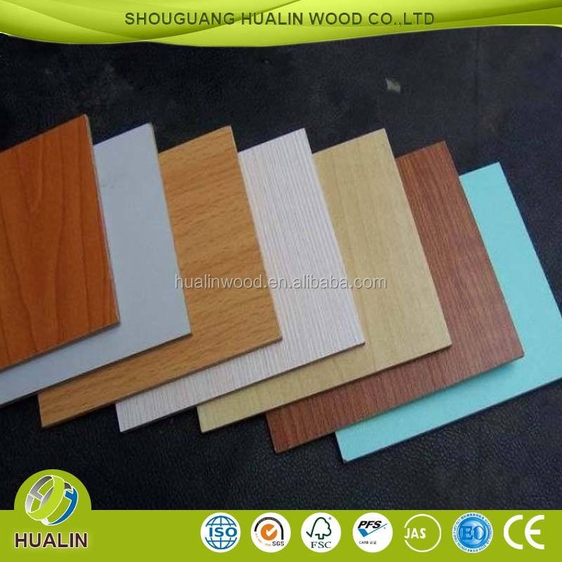 China board leverancier Geconfronteerd Melamine 6mm Mdf