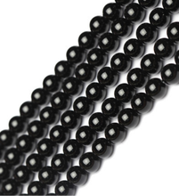 2020 Wholesale high quality 8mm 10mm natural stone black onyx gemstones round loose beads for jewelry making