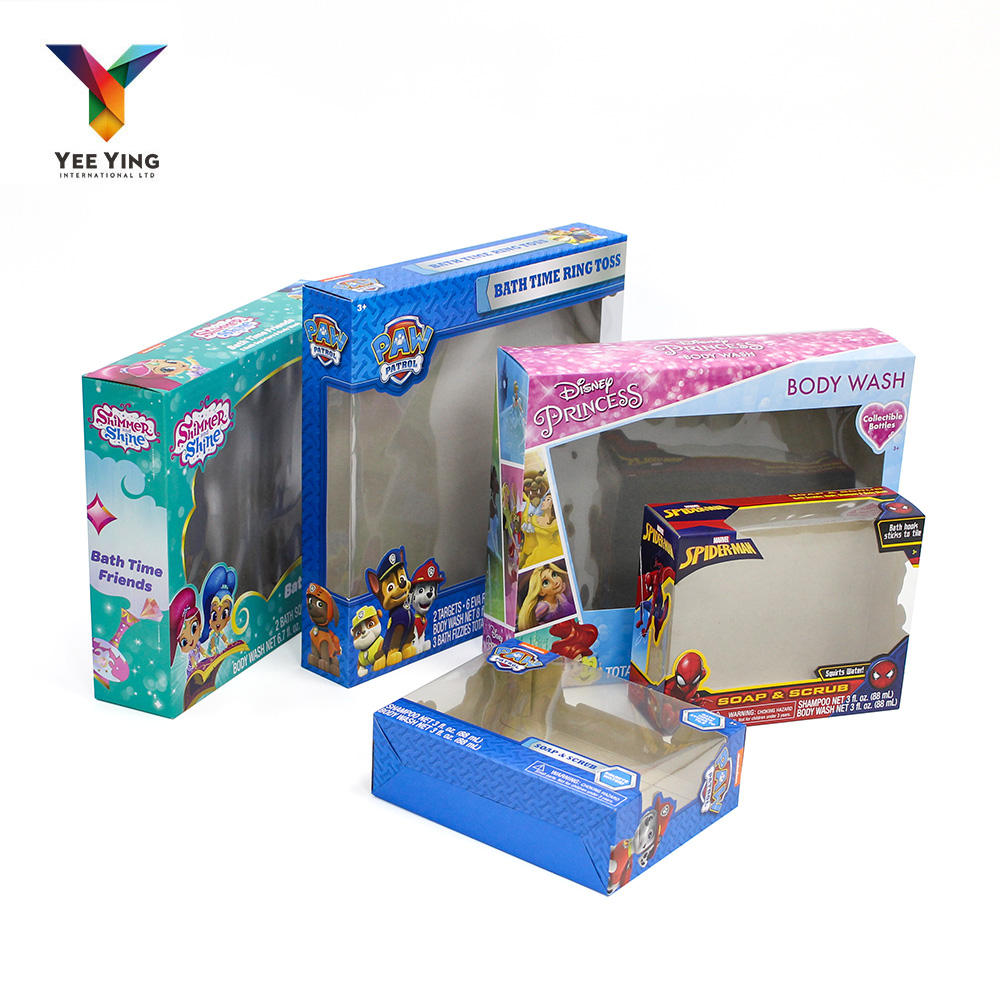 High quality Cardboard Gift Package With Clear PVC Window Packaging Box