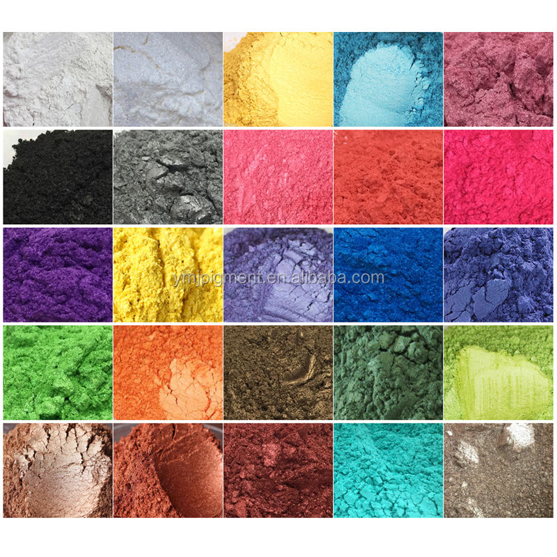 54 Colors Mica Pearl Pigment for DIY, Nail Art, Cosmetic, Slime, Resin, Epoxy