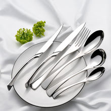 10%OFF Kaya SS304 Luxury Flatware Knife Fork Spoon Banquet Event Silver Mirror Hotel Wedding Stainless Steel Metal Cutlery Set
