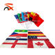 China Suuply Custom Promotional Outdoor Multinational Dealer Flags