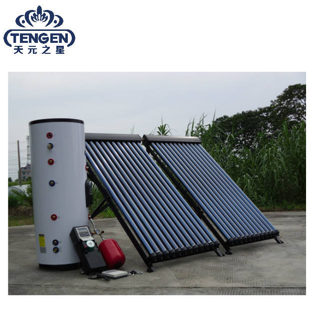 Split solar water heater vacuum tube solar collector