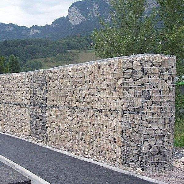 Welded mesh gabion box, gabion retaining wall 1x1x0.5m 2x1x1m( Anping factory )