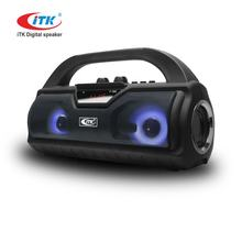 China manufacturer ITK portable boombox wireless outdoor surround sound system trolley karaoke multimedia 2.1 subwoofer speaker
