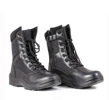 China Supply Cheap Black Leather Military Army Boots Tactical Boots Combat Shoes for Men
