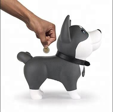 custom your own design vinyl piggy box coin money saving bank dog shape vinyl figure atm piggy bank for kids