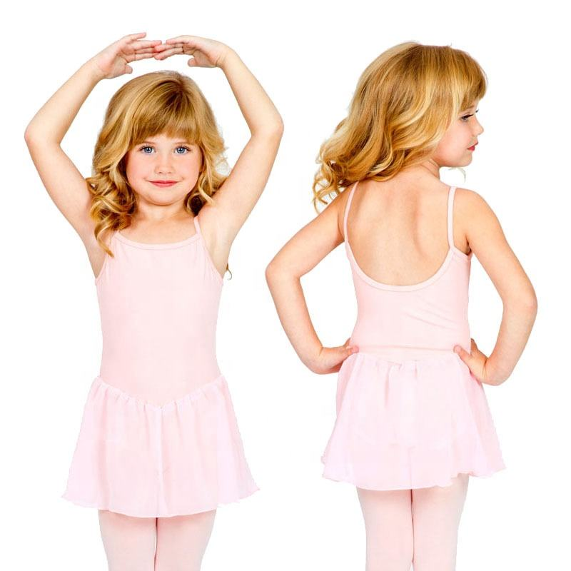 Ballet Dress For Kid Cotton Skirted Leotard Ballet Leotards With Skirt Baby Fancy Dance Leotards Dance Wear Girl SL016