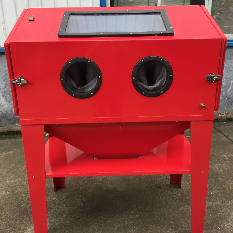 Dry Type Shot Blasting Cabinet 450LHigh quality Free dust turntable sand blasting machine