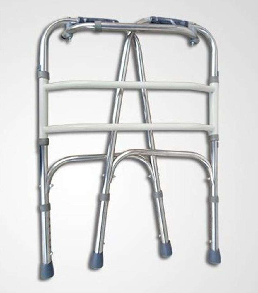 China Supplier Disabled Hospital Clinic Lightweight Folding Walking Aid, Walker Frame For Elderly Disabled People
