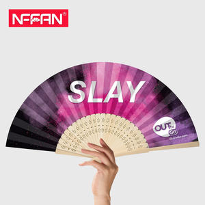 Custom printed bamboo folding hand fan for promotion or event
