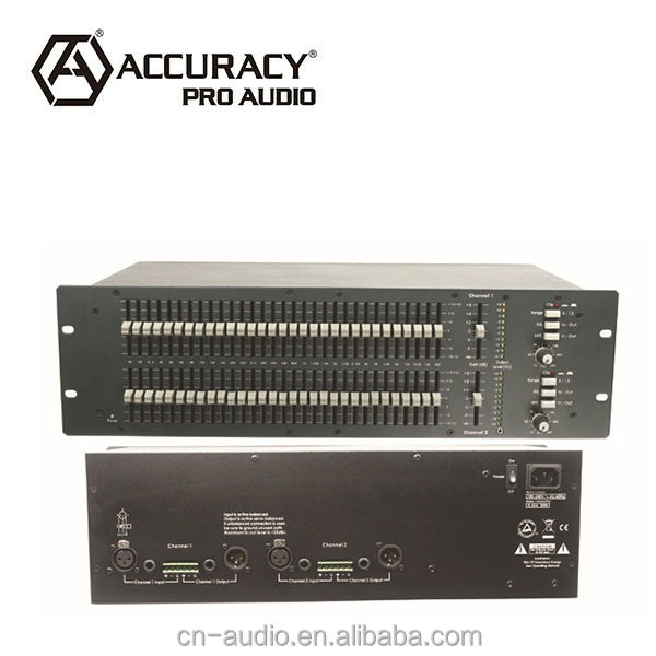 dual 31- band audio grafische equalizer eq-3102 met afstelbare hoge- pass filter