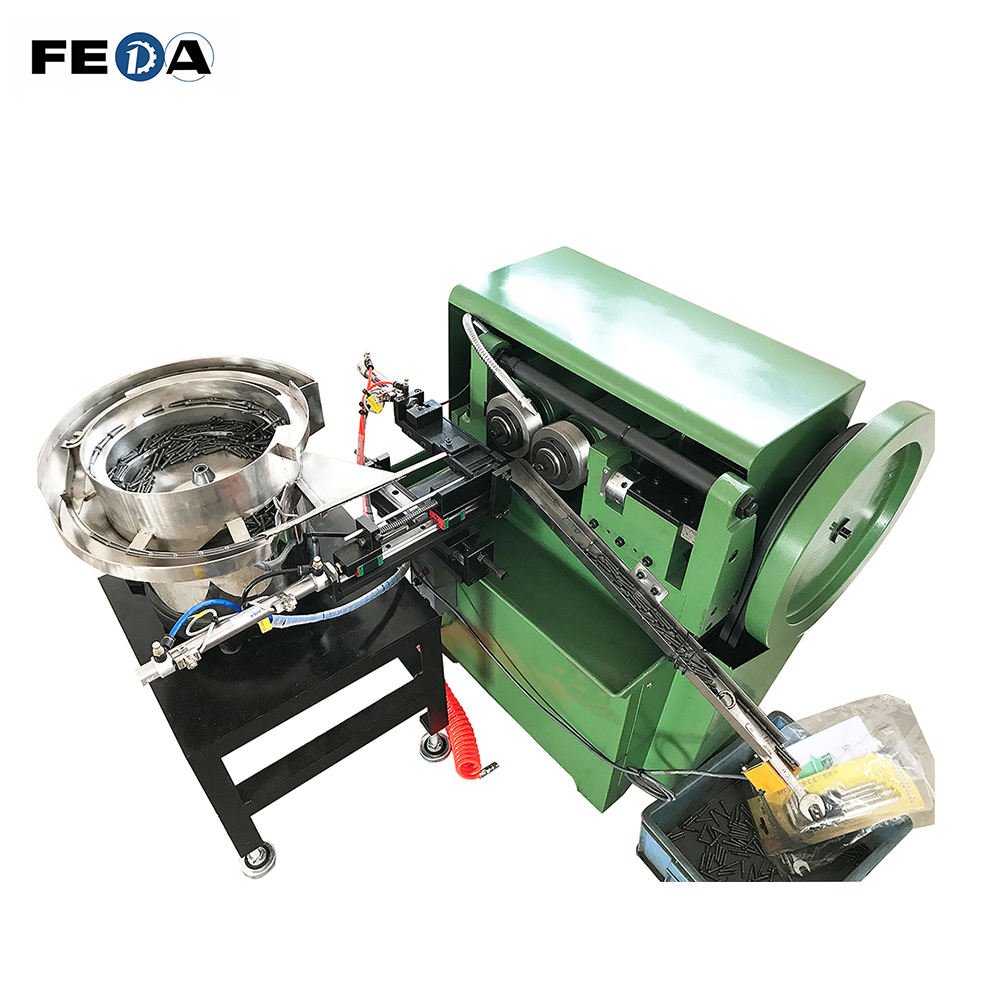 FEDA automatic ridgid pipe threading machine diamond knurling machine with vibration bowl