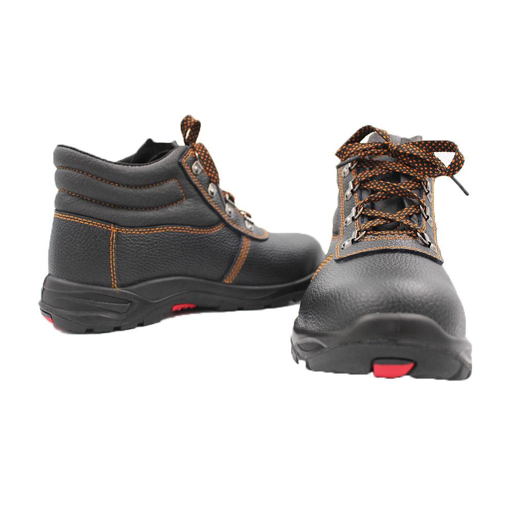 Rocklander Hombres Cuero Protector De Tobillo Tapa Botas De Trabajo Puntera De Acero Zapatos Seguridad