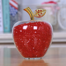 Wholesale crystal crafts gift crystal glass apple birthday gift