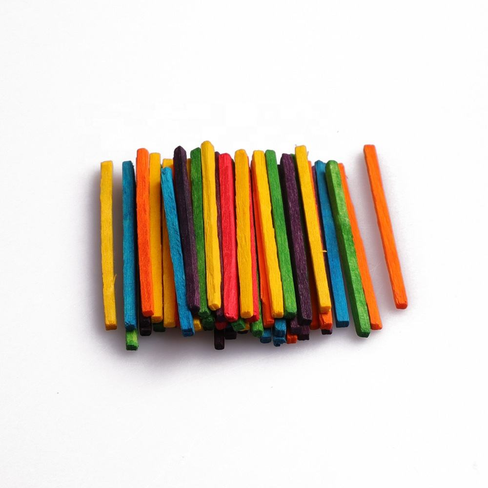 50mm Multi-colored Wooden Match Sticks