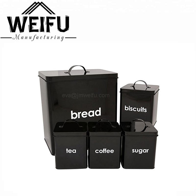 <span class=keywords><strong>Großhandel</strong></span> bunte 5 stück <span class=keywords><strong>kanister</strong></span> sets brot box zucker kaffee tee kekse