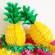 Hawaii Decoration Wedding Wholesale Decorations Pineapple Tissue Paper Honeycomb ball