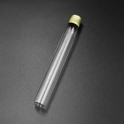 High quality flat bottom glass test tube with aluminum screw cap