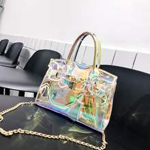 New fashionable Korean version slanted shoulder style chic chain portable tote bag