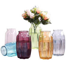 Home decoration blue / pink/ green / red glass vases of various colors