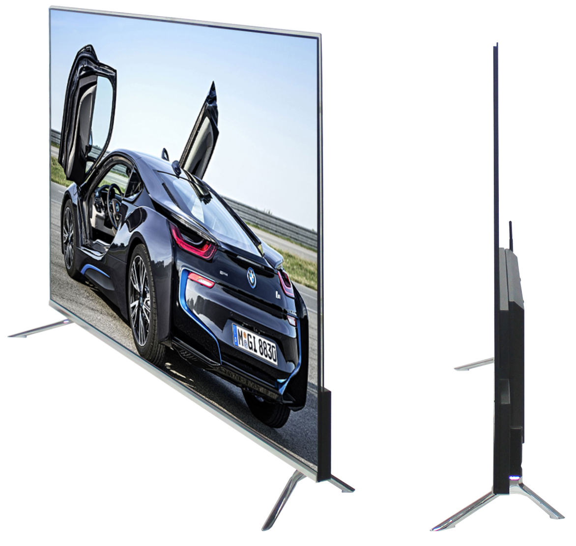 55 pollici Ultra-Sottile no bordo 4 K UHD Smart <span class=keywords><strong>TV</strong></span> <span class=keywords><strong>LED</strong></span> (ZLG-550EF-US)