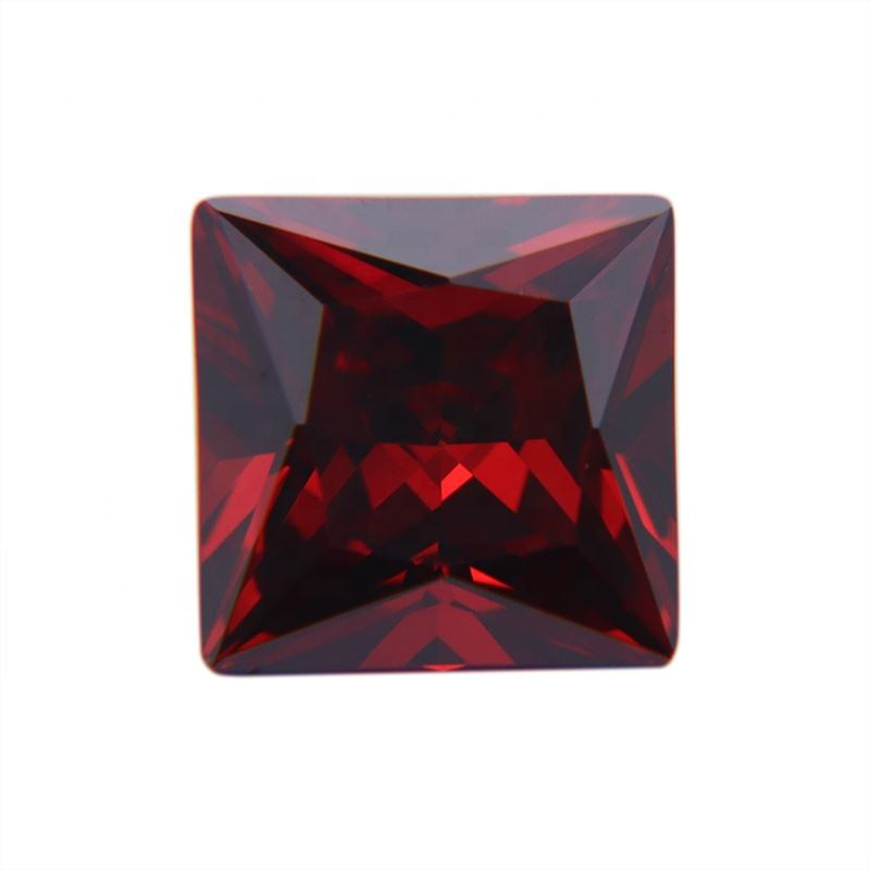 D-Garnet Princess Cubic Zircon High Quality Stones CZ Gem