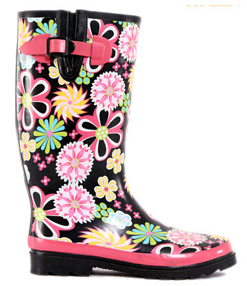 lady westen rubber rainboots with gusset