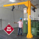 0.5 1 2 3 5 Ton Free Standing I Beam Jib Crane, Base Plated Insert Sleeve 360 Degree Rotating Jib Crane