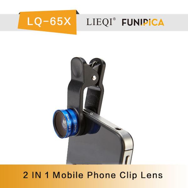 Harika lieqi lq-65x makro lens 0.65x geniş açılı mercek 2 1 cep telefonu kamera lensi fiyat iphone/nokia/blackberry