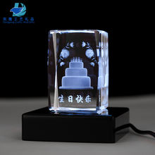 new products 3D laser engraving crystal cube paperweight women gifts for birthday