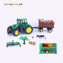 Top sale kids toy funny toys farm sets with animal and firction truck toy