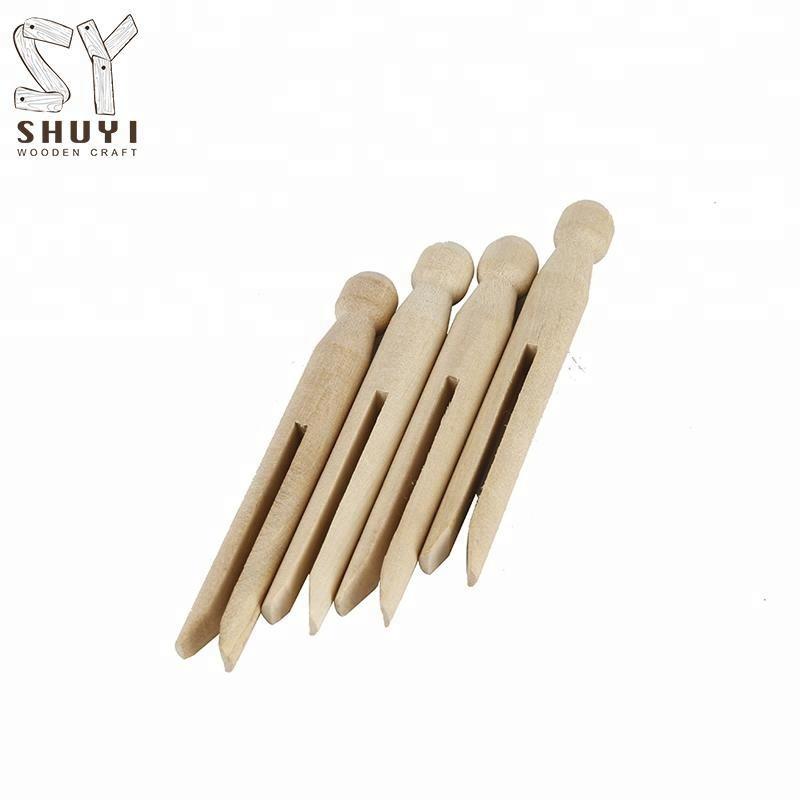 Пользовательские деревянные куклы булавки, зажимы